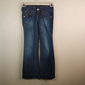 EUC True Religion Candice flared jeans size 23